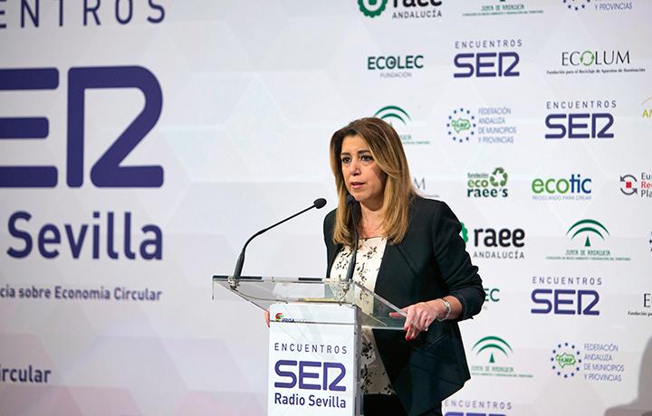 I Encuentro SER Economía Circular. Susana Díaz, presidenta de la Junta de Andalucía