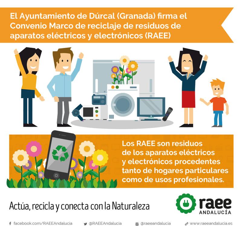 Ayuntamiento de Dúrcal firma el convenio marco RAEE