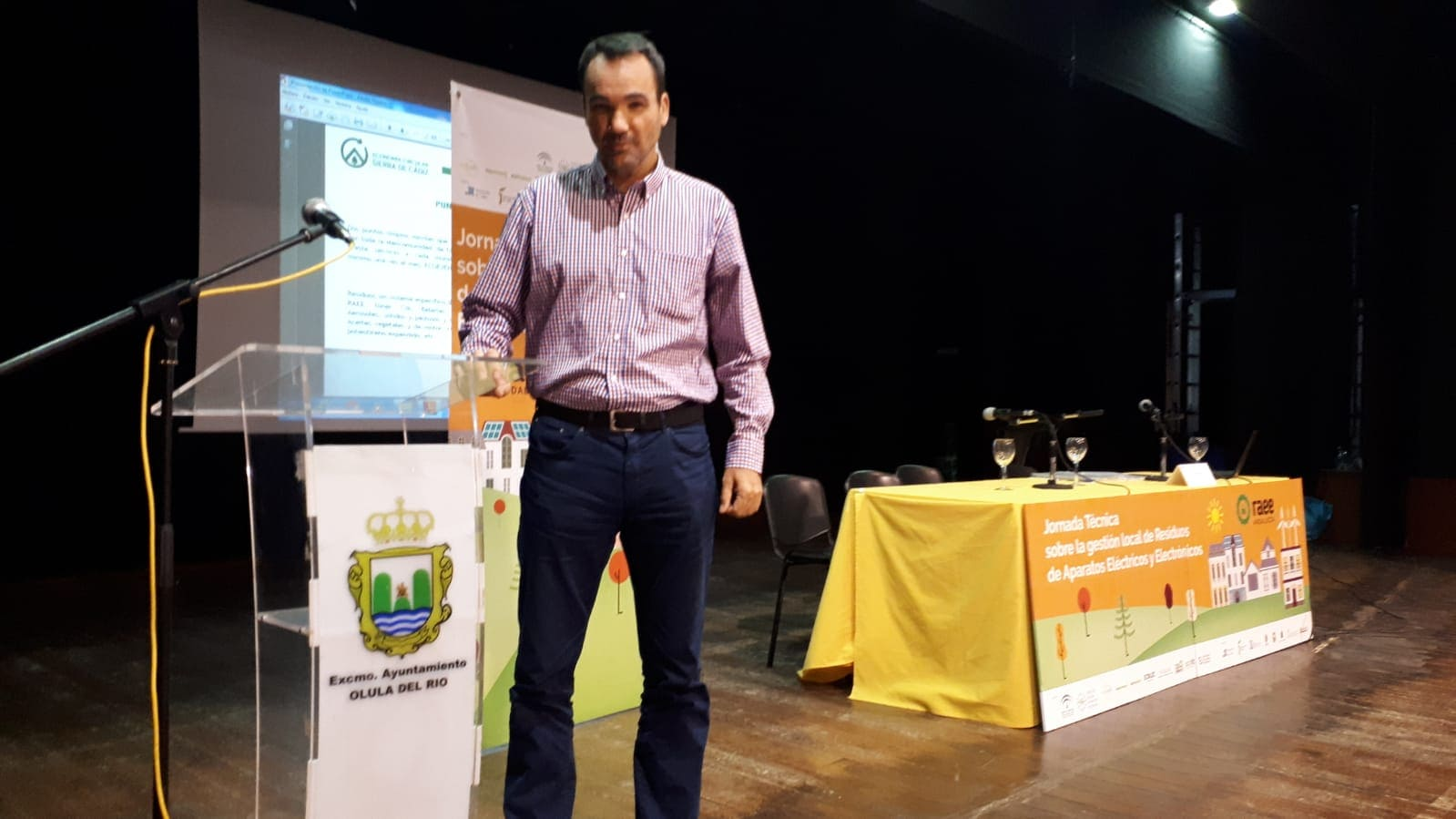 José Domingo Rojas en Jornadas Técnicas RAEE Olula del Río (Almería)