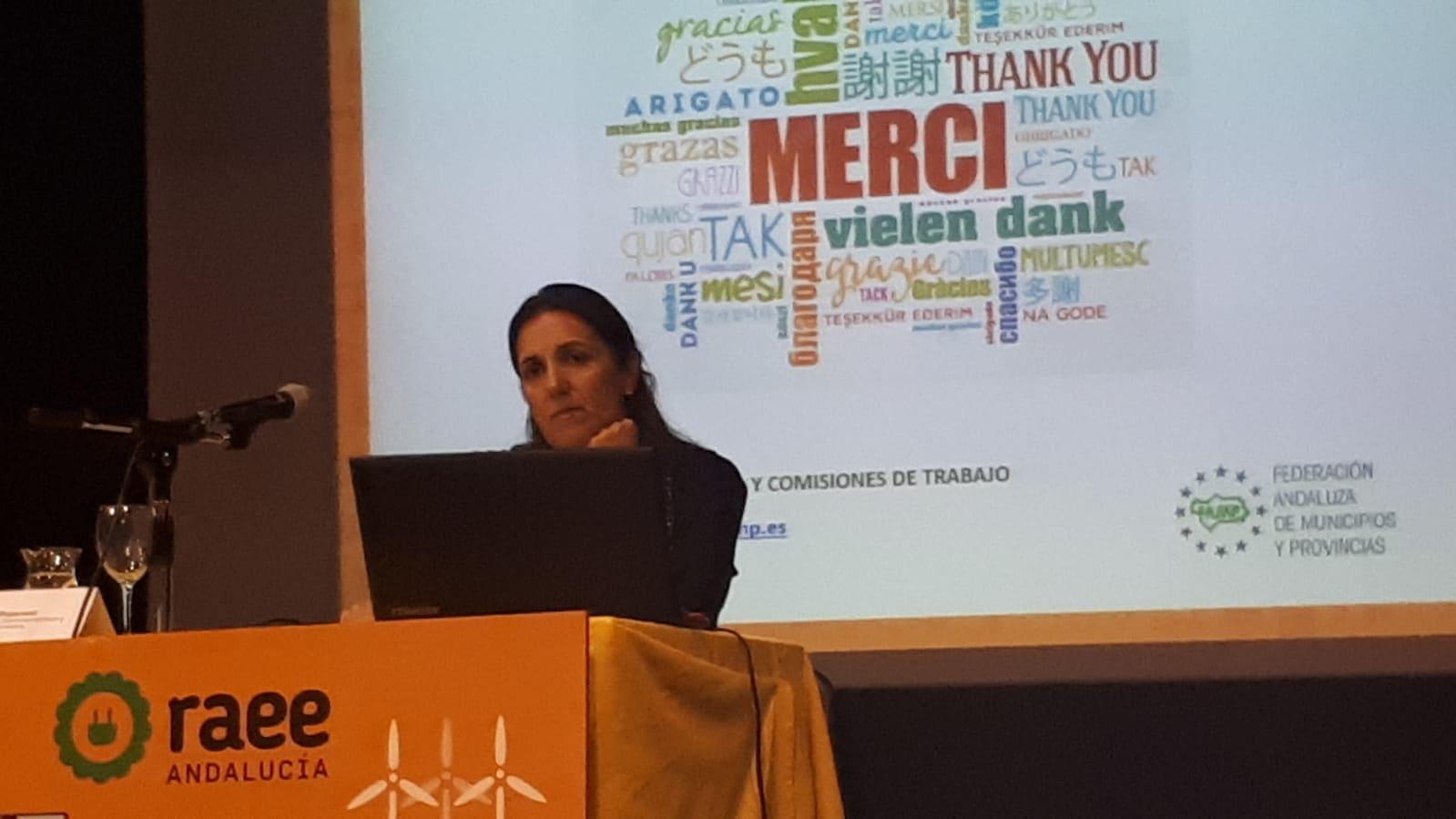Carmen Moncada en Jornadas Técnicas RAEE Olula del Río (Almería)