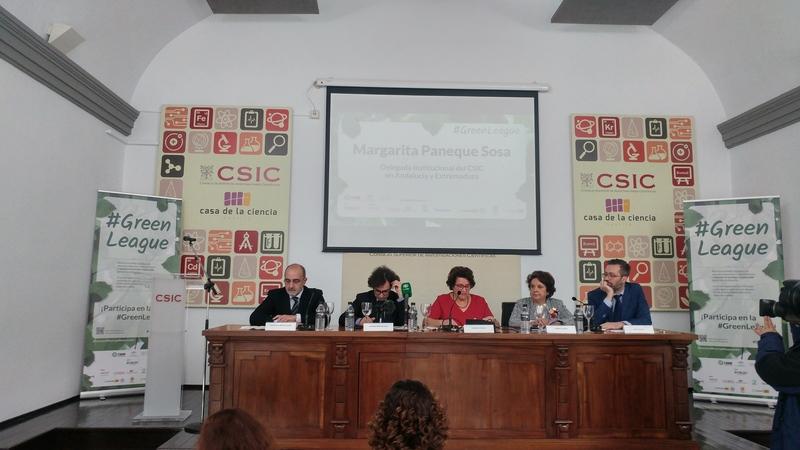 Presentación #GreenLeague Fundación Ecolec. Margarita Paneque, delegada institucional del CSIC en Andalucía y Extremadura
