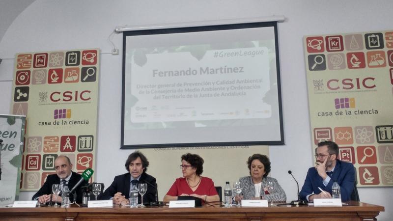 Presentación #GreenLeague Fundación Ecolec. Fernando Martínez, director general de Prevención y Calidad Ambiental de la CMAYOT