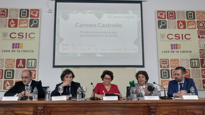 Presentación #GreenLeague Fundación Ecolec. Carmen Castreño, primera teniente de alcalde del Ayuntamiento de Sevilla