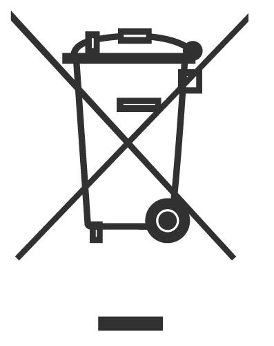 Símbolo del reciclaje de RAEE