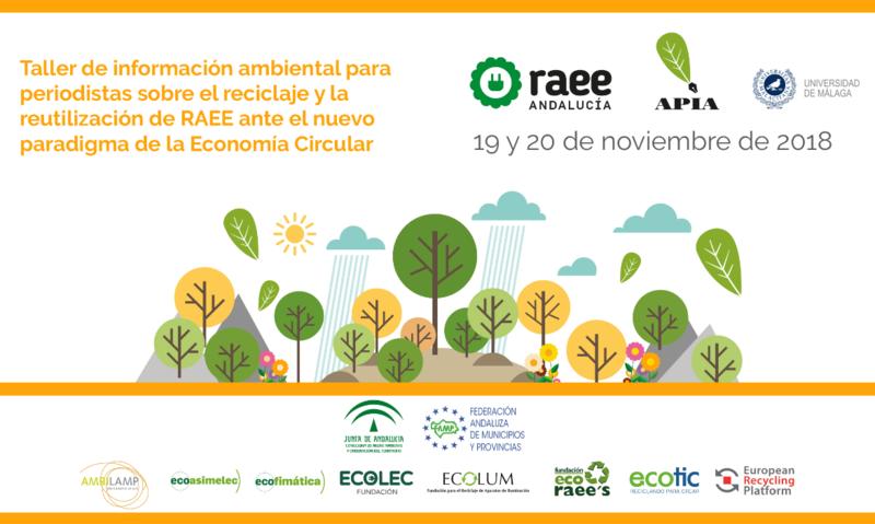 Taller información ambiental RAEE Andalucía y APIA