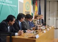 Mesa inaugural del Taller de periodismo ambiental organizado por APIA y RAEE Andalucía.