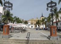 Plaza Ramón y Cajal, en Valverde del Camino (Huelva)